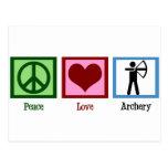 Peace Love Archery Postcard