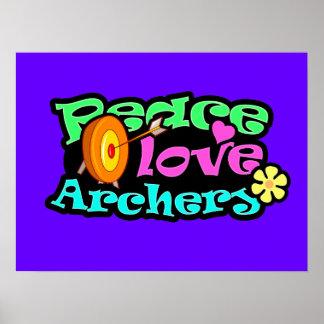 Peace, Love, Archery Print