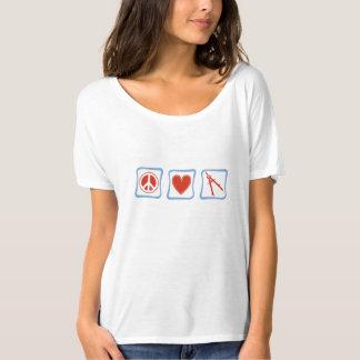 Peace Love Architect Squares T-Shirt