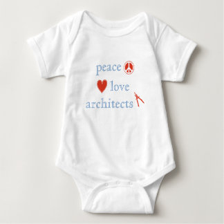 Peace Love Architects Baby Bodysuit