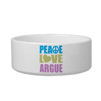 Peace Love Argue Bowl