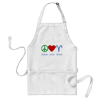 Peace Love Aries Products Adult Apron