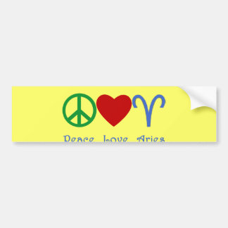 Peace Love Aries Products Bumper Sticker