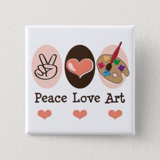 Peace Love Art Artist Button