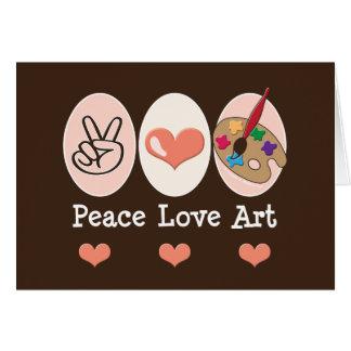 Peace Love Art Blank Card