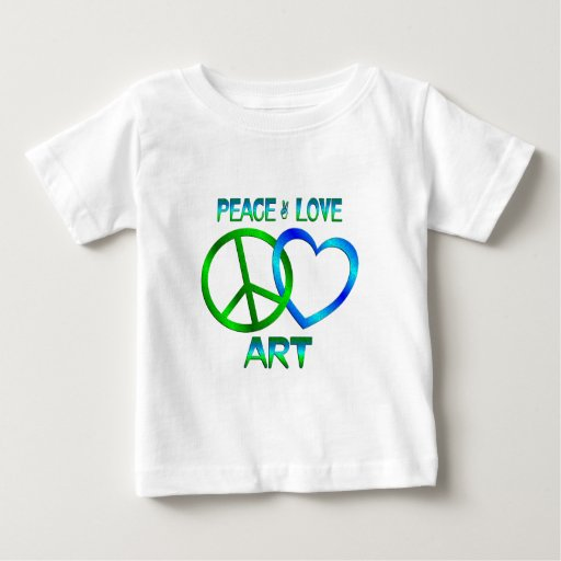 Peace Love ART Infant T-shirt