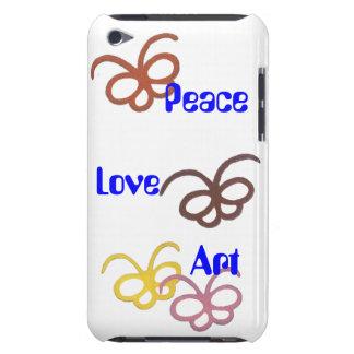 peace love art iPod Case-Mate case