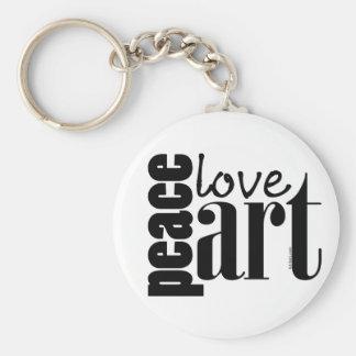 Peace Love Art Keychain