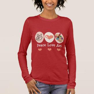 Peace Love Art Long Sleeve Shirt