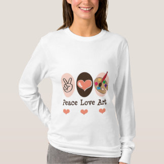 Peace Love Art Long Sleeve T shirt