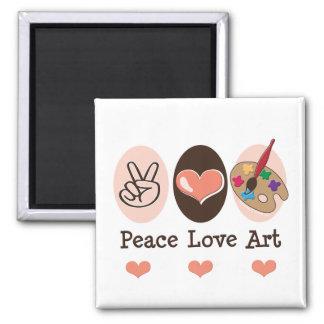 Peace Love Art Magnet