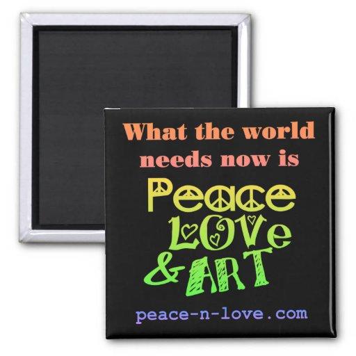 Peace, Love & Art Magnet