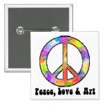 Peace, Love & Art Pin