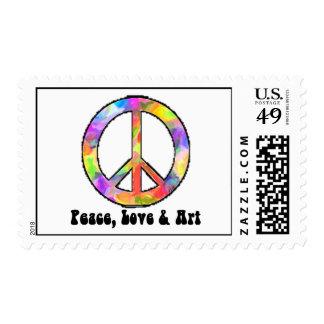 Peace, Love & Art Postage