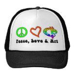 Peace, Love & Art Signs Hat
