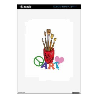 PEACE LOVE ART iPad 3 SKIN