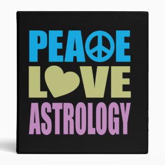 Peace Love Astrology 3 Ring Binder