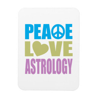 Peace Love Astrology Rectangular Photo Magnet