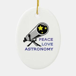 PEACE LOVE ASTRONOMY ORNAMENTS