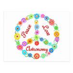 Peace Love Astronomy Postcard