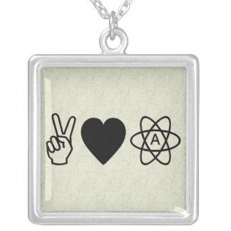 Peace Love Atheism Jewelry