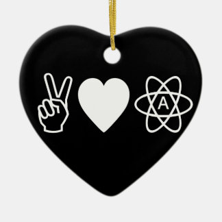 Peace Love Atheism Christmas Ornaments