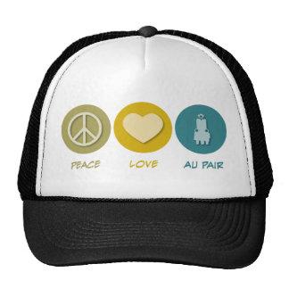 Peace Love Au Pair Trucker Hat