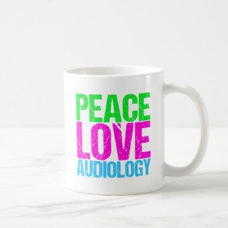 Peace Love Audiology Coffee Mug