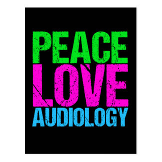 Peace Love Audiology Postcard