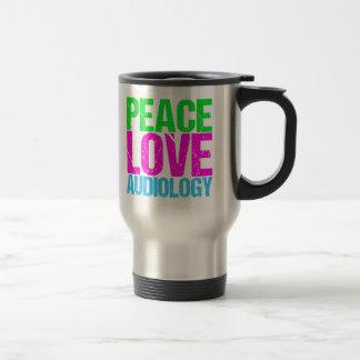 Peace Love Audiology Travel Mug