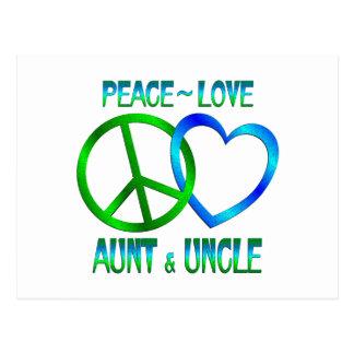 Peace Love Aunt Uncle Postcard
