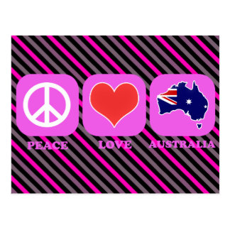 Peace Love Australia Postcard