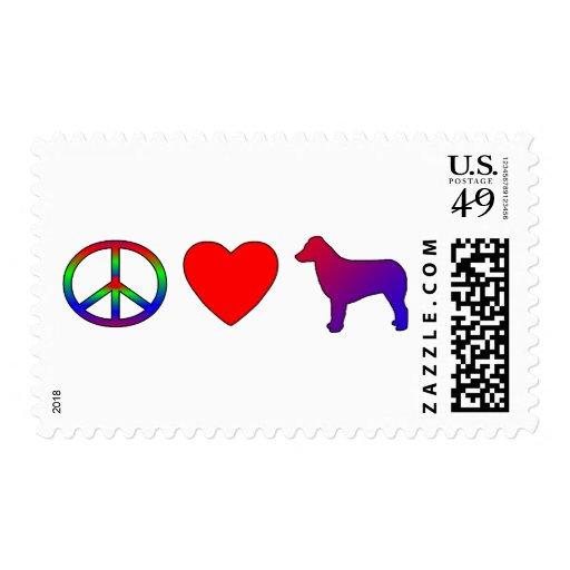 Peace Love Australian Shepherds Postage Stamps