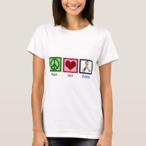 Peace Love Autism Awareness Women's T-Shirt