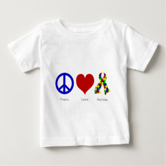 Peace. Love. Autism. (bright colored) Infant Baby T-Shirt