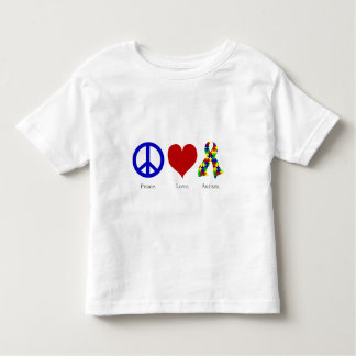 Peace. Love. Autism. (bright colored) Toddler T-shirt