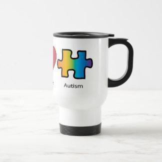 Peace Love Autism Mugs