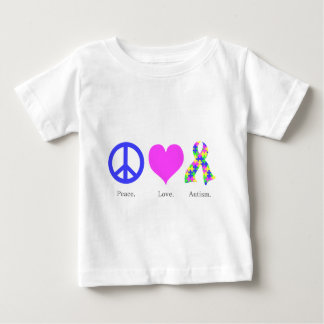 Peace. Love. Autism. (pastel colored) Infant Baby T-Shirt