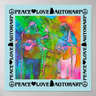 Peace Love Autoharp Poster