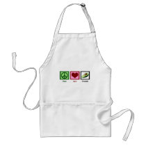 Peace Love Avocado Adult Apron