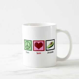 Peace Love Avocado Double-Sided Coffee Mug