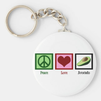 Peace Love Avocado Keychain