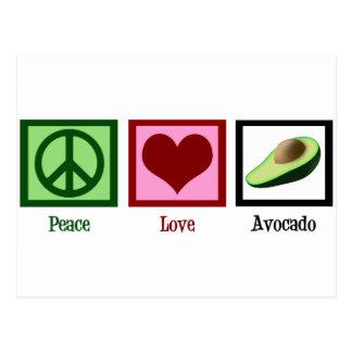 Peace Love Avocado Postcard