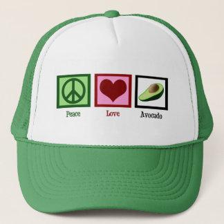 Peace Love Avocado Trucker Hat