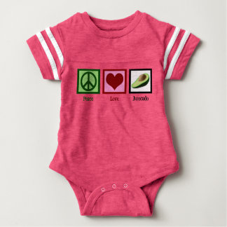 Peace Love Avocados Baby Bodysuit