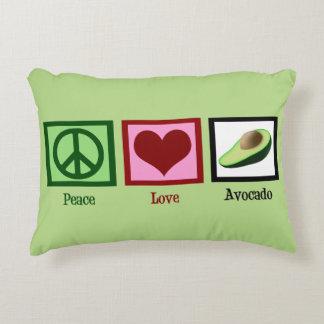 Peace Love Avocados Decorative Pillow
