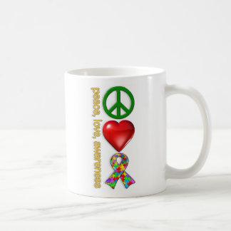 Peace Love Awareness Coffee Mug
