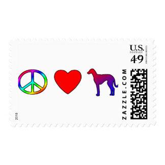 Peace Love Azawakhs Postage Stamps