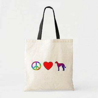 Peace Love Azawakhs Tote Bags