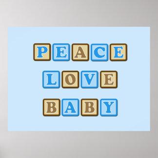 Peace, Love, Baby Blocks Poster